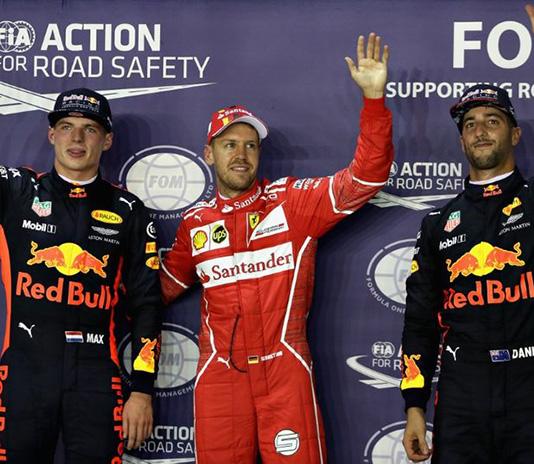 Singapur GP 2017 Pole Ferrariden Vettelde