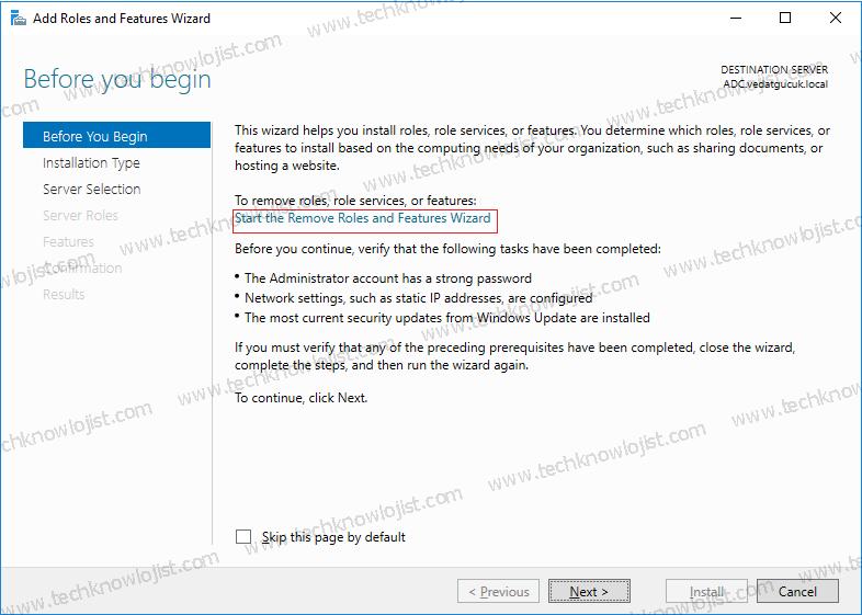 Windows Server 2016 Additional Domain Controller Kaldırma