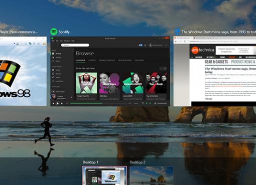 Windows 10 Çoklu Sanal Masaüstü Kullanımı