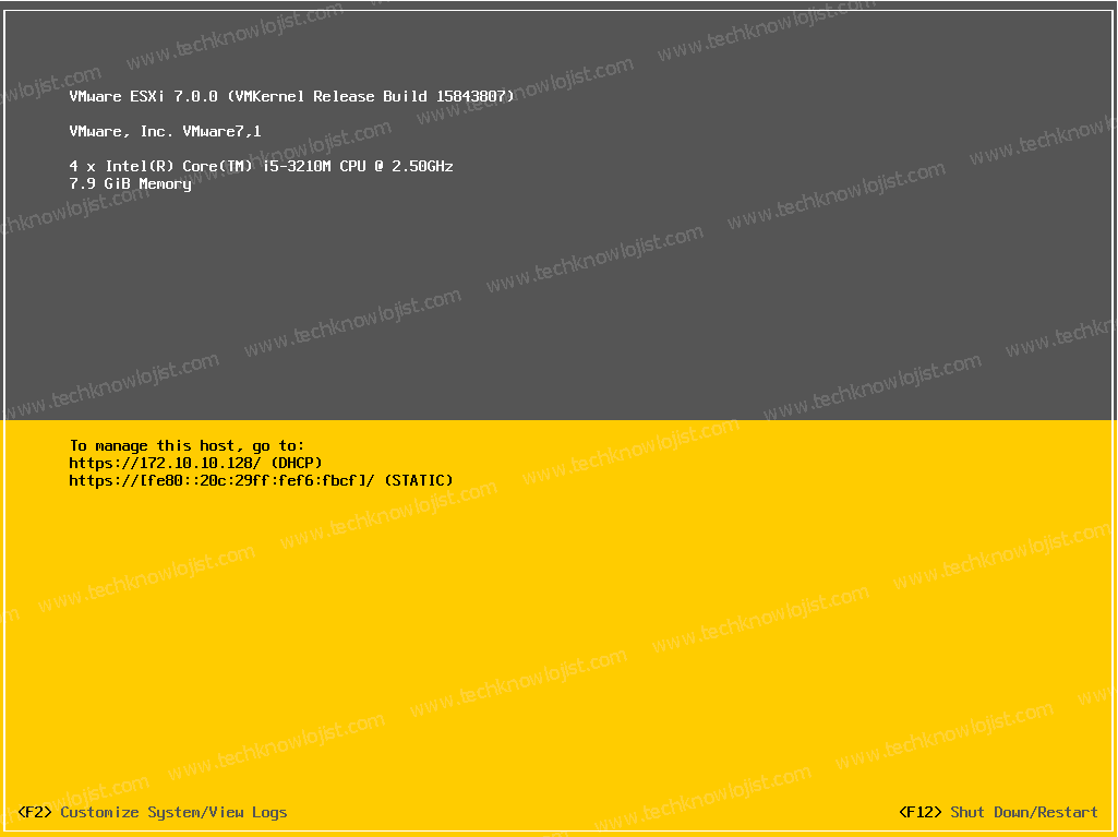VMware Vsphere ESXi7 Kurulum