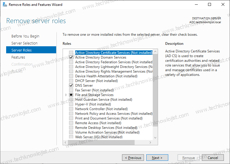 How to Remove Windows 2019 Additional Domain Controller