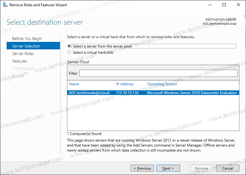 Windows 2019 Active Directory Uninstall