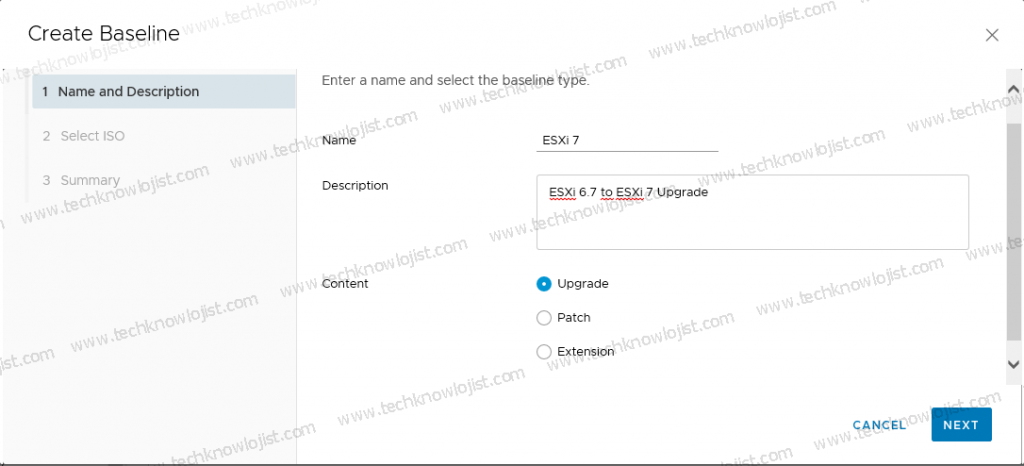 Update ESXi via VMware Lifecycle Manager