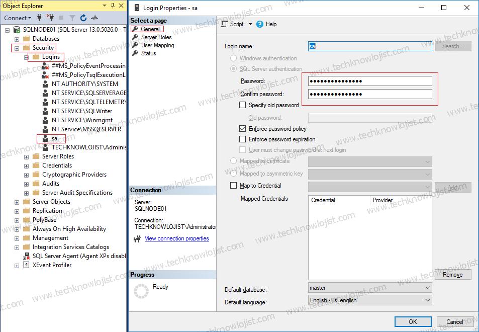SQL Server sa Şifre Resetleme